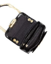 MICHAEL Michael Kors - Black Sloan Small Pythonembossed Shoulder Bag - Lyst