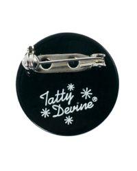 Tatty Devine | Black Volume Brooch | Lyst
