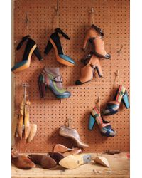 Anthropologie | Multicolor Peep Toe Platforms | Lyst