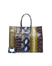 Balenciaga | Balenciaga Papier Elaphe A4 Blue | Lyst