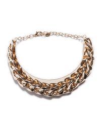 Zara | Metallic Appliqué Maxi Chain Necklace | Lyst