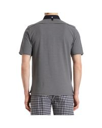 Black Fleece By Brooks Brothers - Blue Long Placket Pique Polo for Men - Lyst