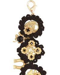 Dolce & Gabbana - Black Macramé Cotton Lucky Charm Bracelet - Lyst