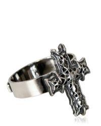 Emanuele Bicocchi - Metallic Sterling Silver Cross Ring for Men - Lyst
