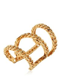 Giuseppe Zanotti | Metallic Gold Plated Brass Chain Bracelet | Lyst