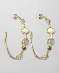 Kendra Scott | White Heather Hoop Earrings | Lyst