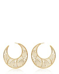 Lara Bohinc - Yellow Tatjana Hoop Earrings - Lyst