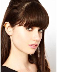 Maria Francesca Pepe - Metallic Spike Ear Cuff - Lyst