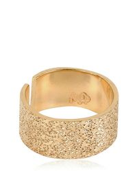 Maria Francesca Pepe | Metallic Midi Finger Light Gold Ring | Lyst