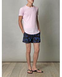 Orlebar Brown - Pink Tommy Crewneck T-Shirt for Men - Lyst
