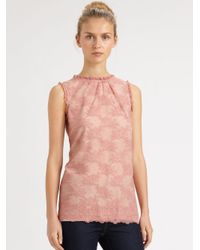 RED Valentino | Pink Lace Blouse | Lyst