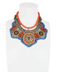 Sveva Collection | Orange Josephine Baker Embroidered Necklace | Lyst