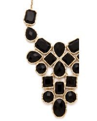 Adia Kibur - Metallic Stone Bib Necklace - Lyst