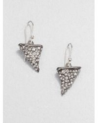 Alexis Bittar | Metallic Thorn Earrings Gunmetal | Lyst