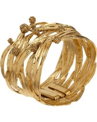 Aurelie Bidermann - Yellow Gold Surfing Mimosa Cuff - Lyst