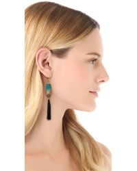Bluma Project - Blue Fringe Earrings - Lyst