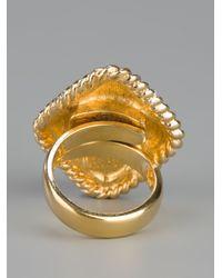 Dior - Metallic Vintage Cocktail Ring - Lyst