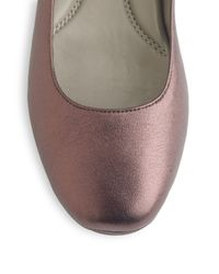 Eileen Fisher | Brown Metallic Leather Ballet Flats | Lyst