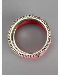 Iosselliani - Pink Set Of Bangles - Lyst