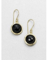 Ippolita | Lollipop Black Onyx & 18k Yellow Gold Mini Drop Earrings | Lyst