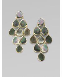 Ippolita - Metallic Black Shell 18k Gold Cascade Earrings - Lyst