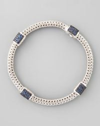John Hardy - Metallic Classic Chain Blue Sapphire Bracelet for Men - Lyst