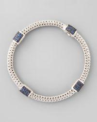 John Hardy | Metallic Classic Chain Blue Sapphire Bracelet for Men | Lyst