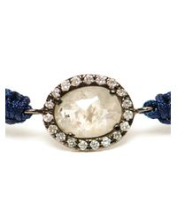Kimberly Mcdonald | Blue Rose Cut Diamond and Macramé Bracelet | Lyst