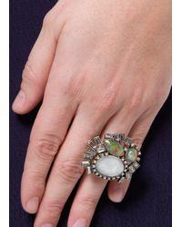 Mango | Metallic Holographic Crystals Ring | Lyst