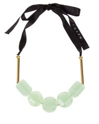 Marni - Green Resin Bead Necklace - Lyst
