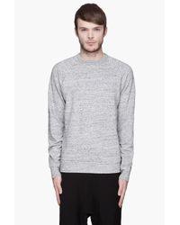 T By Alexander Wang - Gray Mottled Light Grey Nep Terry Sweatshirt for Men - Lyst