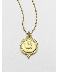 Temple St. Clair | Metallic Angel Diamond & 18k Yellow Gold Pendant | Lyst
