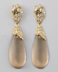 Alexis Bittar | Brown Double Drop Lucite Earrings | Lyst