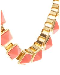 Sam Ubhi - Red Asos Triangle Chain Necklace - Lyst