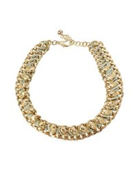 ASOS - Metallic Skull Collar Necklace - Lyst