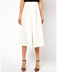 ASOS - White Culottes - Lyst
