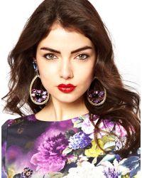 ASOS - Multicolor Jewel Disc Drop Earrings - Lyst
