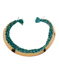 Aurelie Bidermann - Green 'copacabana' Necklace - Lyst
