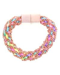 Bex Rox - Multicolor Gina Twisted Rose Gold Bracelet - Lyst