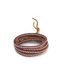 Chan Luu - Brown Five Wrap Platinum Pearl Bracelet - Lyst