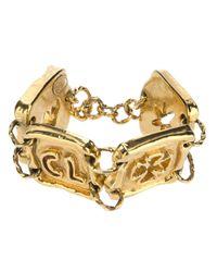 Christian Lacroix | Metallic Chunky Plaque Bracelet | Lyst