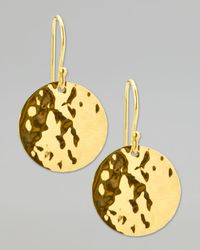 Ippolita | Metallic Hammered Drop Earrings | Lyst