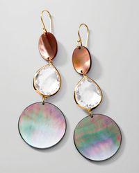 Ippolita | Metallic Ondine Tripledrop Shellquartz Earrings | Lyst