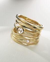 Ippolita | Metallic Stack Ring with Diamonds | Lyst