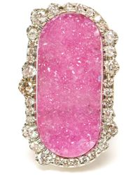 Kimberly Mcdonald - Pink Cobalto Calcite and Irregular Diamond Earrings - Lyst