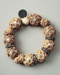 Lanvin - Natural Raffia-wrapped Bracelet - Lyst