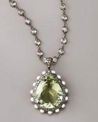 M.c.l  Matthew Campbell Laurenza | Metallic Teardrop Amethyst Pendant Necklace | Lyst