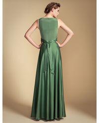 Temperley London | Green Long Stella V-Neck Dress | Lyst