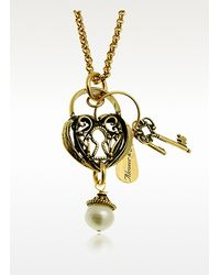 Alcozer & J | Metallic Heart Key Long Necklace | Lyst