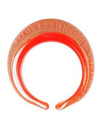 Antica Murrina | Laguna Orange Gold Murano Glass Ring | Lyst